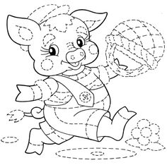 Tracing Worksheets for Kids. Kids practice all the important lines for writing. Tracing Lines Worksheets. This is handwriting practice wor. Tracing Worksheets, Worksheets For Kids, Coloring Books, Coloring Pages, Tracing Shapes, Tracing Lines, Color By Numbers, Little Pigs, Printable Coloring