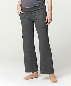 Loving this Charcoal Leisure Under-Belly Maternity Cargo Yoga Pants - Women on #zulily! #zulilyfinds