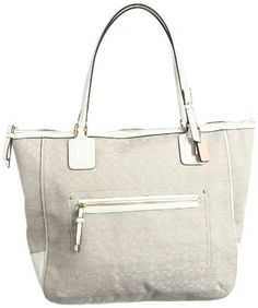Women's Top-Handle Handbags - Coach Poppy Oxford Tote in Mini Signature C Ivory Mohair * Be sure to check out this awesome product.
