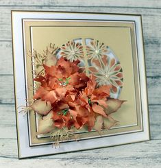 Happy Wednesday, Today I am sharing a card, again made with the poinsettia, but that to me has a real autumn feeling to it with the flow. Clarity Card, Dear John, Next Door, Thanksgiving Crafts, Autumn Feeling, Poinsettia, Autumn Leaves, Birthday Cards, Happy Wednesday