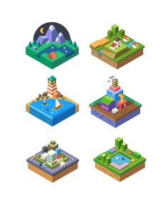 Dribbble - by Secret lab Isometric Map, Isometric Design, Game Design, Icon Design, Game Concept, Concept Art, Vector Design, Vector Art, Cube World