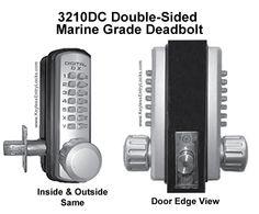 marine grade lockey 3210dc doublesided marine grade deadbolt keypad pushbutton entry door locksentry