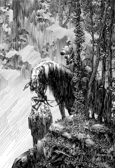 Bernie Wrightson's Frankenstein Comic Read Online – RGNO – Read Graphic Novel Online Art And Illustration, Gravure Illustration, Ink Illustrations, Fantasy Kunst, Fantasy Art, Arte Alien, Bernie Wrightson, Arte Obscura, Comic Kunst
