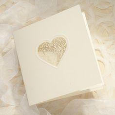 Grace Ivory Lasercut Heart - Sample