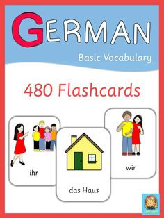 This set of 480 German flashcards are a great visual help for introducing all basic topics.