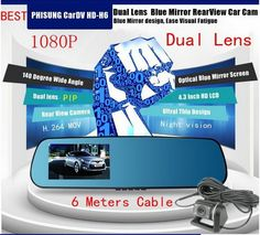 Find More Car DVRs Information about 4.3 inch HD 1080P Dual Lens Car DVR 140degree Angle View Separated Rear Camera Two Camera Gsensor H236,High Quality Car DVRs from HongKong Egomall Technology Co. Limited on Aliexpress.com
