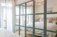 Beautiful Ikea Hack / Mirrored Pax Wardrobes with Gold Hardware