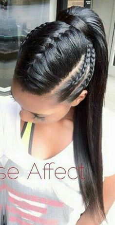 39 Crazy Braided Ponytail Hairstyles - Ponytails Hairstyles for African American Women - Hochsteckfrisur Braided Ponytail Hairstyles, Box Braids Hairstyles, Girl Hairstyles, American Hairstyles, Fishtail Braids, Summer Hairstyles, Popular Hairstyles, Ponytail Ideas, Braid Ponytail