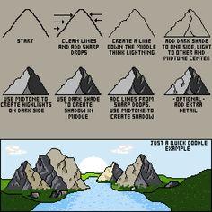 Pixel art   Tutorial on Mountains - Imgur