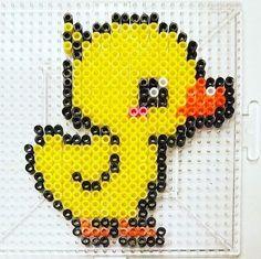 Duckling perler beads by madeleinejulianne