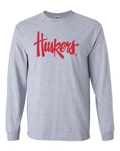 3b93e2e74e9f 87 Exciting Men s Long Sleeve Tee Shirts - Nebraska Huskers images ...