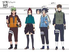 Konoha RGB Settei - Pre Shippuden by tsurugami on DeviantArt Naruto Comic, Anime Naruto, Anime Ninja, Anime Oc, Fanarts Anime, Naruto Art, Naruto Uzumaki, Ninja Outfit, Oc Manga