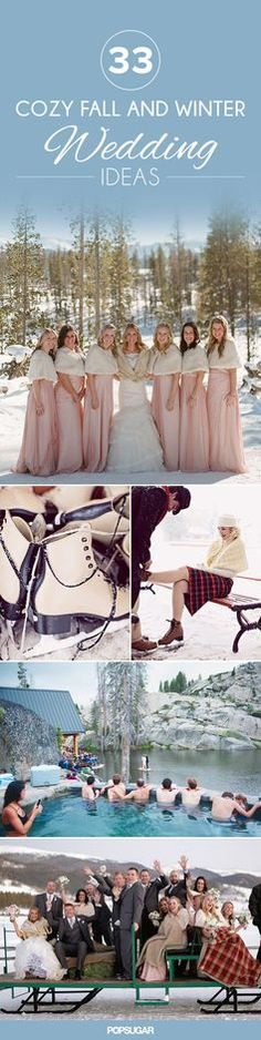 33 ideas to make your wedding a winter wonderland.