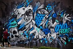 Cold front mural in Vancouver, Bc