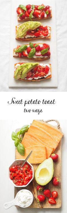 Healthy sweet potato toast