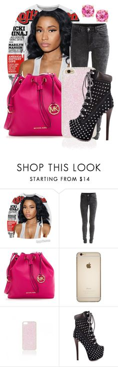 """nicki minaj! the night is still young!"" by royaldopeness ❤ liked on Polyvore featuring Nicki Minaj, Vila Milano, MICHAEL Michael Kors, Forever New, ZIGIgirl and Victoria Townsend"