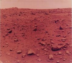 NASA Viking Lander I, First Color Photo Taken on Mars, 1976 (July 21)