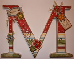 Embellished wood letters