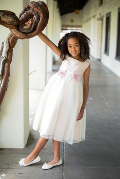 ivory flower girl dress, ivory, Lizzylove Auckland available in dusty pink as well