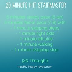 Try this next time you are at the gym! Interval Stairmaster Workout https://healthy-happy-loved.com/interval-stairmaster-workout/