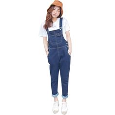 2017 New Arrived Fashion Full Length Rompers Womens Jumpsuit Bandage Long Pants Sexy Denim Jeans Jumpsuits Bodycon Long Pants #Affiliate