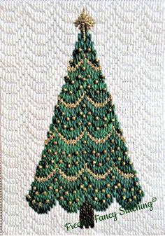 Bargello Patterns, Bargello Needlepoint, Needlepoint Stitches, Tree Patterns, Needlepoint Canvases, Needlepoint Christmas Stockings, Christmas Tree Pattern, Little Christmas Trees, Christmas Embroidery