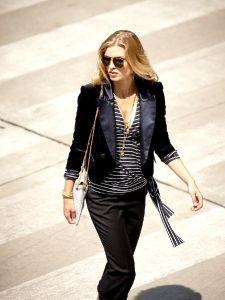 Burda Style: Damen - Blusen & Tuniken - Blusen - Wickelbluse - Marine, V-Ausschnitt