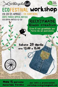 Re(d)cycleLab @ Think Green Eco Festival #workshop #sewing #ecofriendly