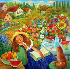 Disfrutemos del verano!  (Ilustración de Olga Velichko)