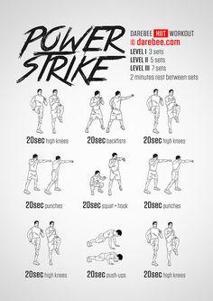 Power Strike  Workout | Posted by: CustomWeightLossProgram.com