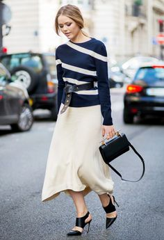 Tip of the Day: Belt your Sweater via @WhoWhatWear