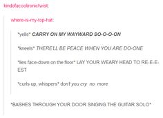 How to sing Carry On My Wayward Son. If you bash through my door and sing the guitar solo we will be instant best friends