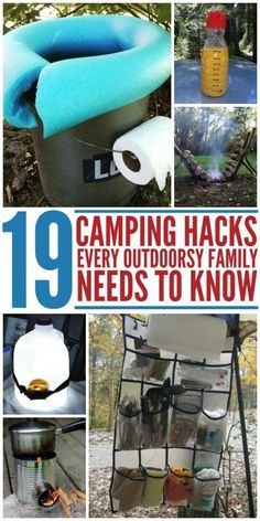 19 Camping Hacks Every Outdoorsy Family Needs to Know #CampingGear