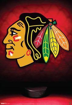 Chicago Blackhawks Logo Sports Poster Poster