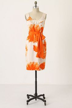 Moulinette Soeurs Orange Blossom Dress #anthropologie