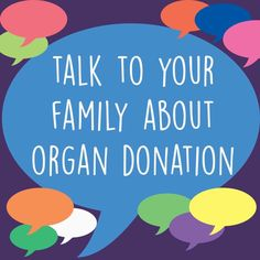 talk to your family about organ donation