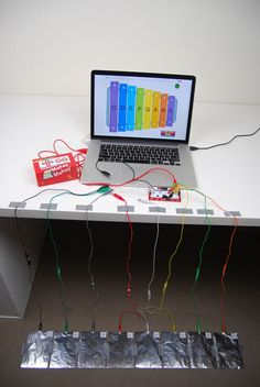 Makey Makey & Scratch foot xylophone - this looks like a fun makerspace project that students would love!