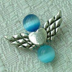 20pcs Tibetan Silver Angel Wing Charm Beads 20mm(D) ~Jewelry Findings~ $2.99