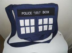 TARDIS Messenger Bag .... you know, just strolling along down Pinterest lane and then BAM! People are posting pictures of my bag!