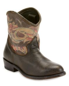 Ash Janis Vintage Leather Boot Rose Tattoo and Skull Boots 36 6 $355 #Ash…