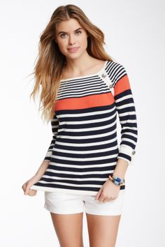 d912eff602 Striped Knit Shirt  Pascale De Groof Beachwear Fashion