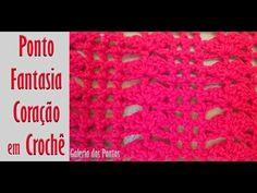 Ponto Fantasia Coração em Crochê #2