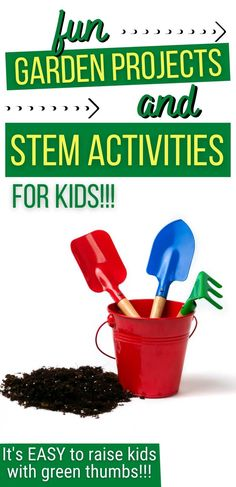 Are your kids interested in gardening? Do you want to find some gardening activities for kids to enjoy? What about STEM gardening projects for kids? Check out this list of gardening projects and activities for kids to enjoy in the garden. Teach kids how to garden with these easy tricks!! Whether your kids want to learn how to regrow food from old kitchen scraps, they want to learn how to make a DIY seed bomb, they want to make a classroom aquaponics system, or something else, this is your list.