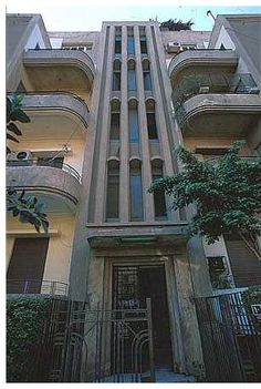 Art deco Wahba Building. Egipto