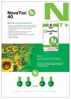 Αζωτούχος λίπανση με μεγάλη διάρκεια  Νοvatec 40  Οφέλη από τη χρήση του Novatec 40 •Λίπασμα με 40 μονάδες αζώτου 100% σταθεροποιημένο •Μεγάλη διάρκεια  δράσης του αζώτου χωρίς απώλειες  • Ομαλή τροφοδοσία των φυτών χωρίς εξάρσεις αγωγιμότητας • Απόλυτη ομοιομορφία στο μέγεθος του κόκκου • Περιέχει και πολύτιμες μονάδες θείου