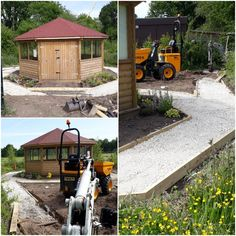 Our school site in #Cheshire is taking shape!  New pathways have been added around their outdoor classroom, making a woodland sensory garden. These will be topped off with golden self binding gravel and be surrounded by plenty of plants  #school #outdoorlearning #forestschool #schoolgarden #sensoryplay #wildlifegarden #commerciallandscape #landscaping #heretohelp Sensory Garden, Sensory Play, School Site, Taking Shape, Outdoor Classroom, Outdoor Learning, Forest School, Pathways, Woodland