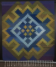 Square pattern tapestry from Nes - Tapestries from Buskerud - coverlets from Buskerud - Subject Resources - Norway Husflidslag