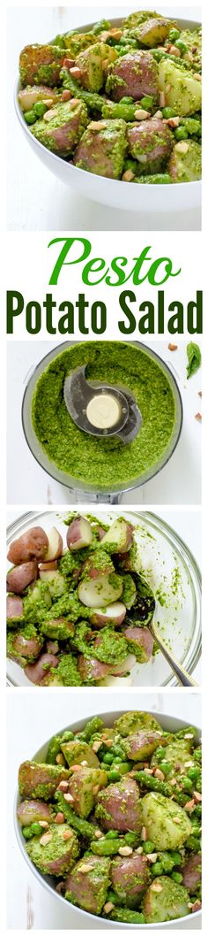 Pesto Potato Salad. A vibrant, refreshing summer twist on classic potato salad that will be a hit and any barbecue or potluck!