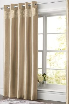 Buy Shimmer Band Eyelet Curtains from the Next UK online shop