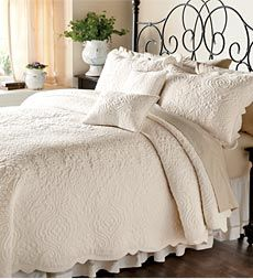 Olivia Trapunto Quilted Cotton Bedding